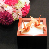 和風リングピロー 『鶴の舞』