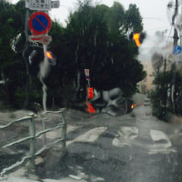 ○ Thunder Storm with more than 124mm/hrs:running 猛烈な雨