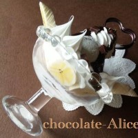 チョコミントパフェのメモスタンド