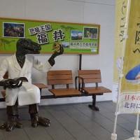 福井駅&黒猫