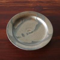 青砂掛け流しリム皿