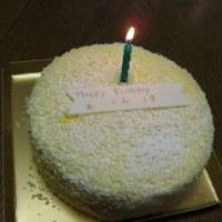 誕生日を迎える。