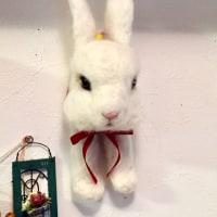 白ウサギの壁掛け