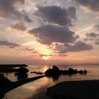 橘湾の夕焼け
