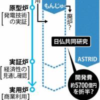 仏高速増殖炉「ASTRID」は日仏共同研究だった!〜「もんじゅ」研究とダブり!/仏増殖炉半額負担か?!。