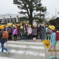 盛り上がりました 今年度最後のあいさつ運動 3月23日(木)