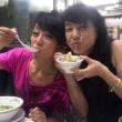 秋野先生と一つのラーメンを二人で分けて食べる幸せ♪