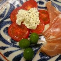 生ハムとトマトのサラダ