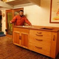 天空のATELIERのキッチンの木工事が完成です。