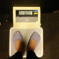 久しぶりのジム 体重60.5