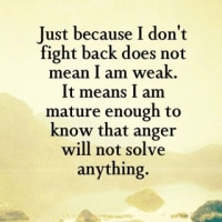 anger will not solve anything