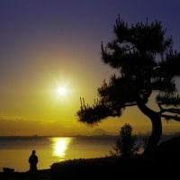 びわ湖の日の出