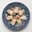 2017.07.19の夕食 ゆで豚と野菜の酢醤油風味