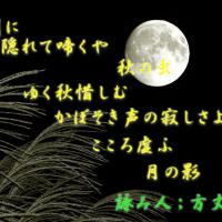 画像詠み ; 月の影