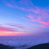 朝焼けの国師ヶ岳