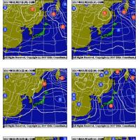 2月25日 アメダスと天気図。
