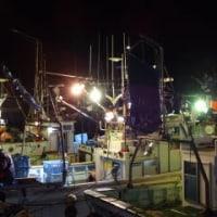 夜の港・網外し