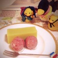 桜の餡子玉と桜の羊羮
