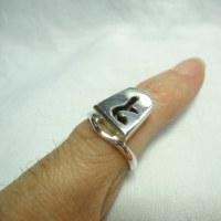 将棋のコマ「と」金の指輪
