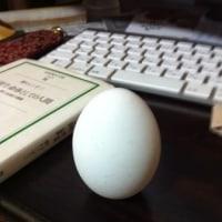 レッスンの前に自宅で立てた生卵