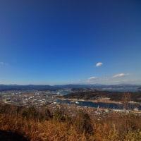 バイクで米の山