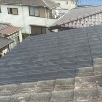 屋根の上ペンキ塗り完了