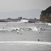 週末は台風サーフィン、ちょっとだけよ!