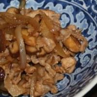 10月7日  豚肉の甘辛炒めのっけ雑穀とろろごはん