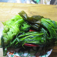 壬生菜の塩漬け