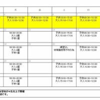 2017年5月度 練習日程