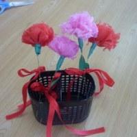 Mさんの簡単工作「母の日のプレゼントづくり」