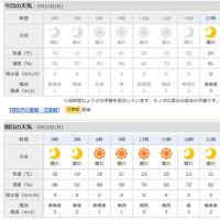 5月21日 アメダスと天気図。