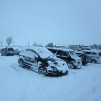 木曽三川は、雪で中止