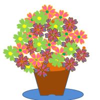 花を描きましょう!!!