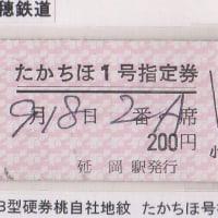 高千穂鉄道たかちほ号の硬券