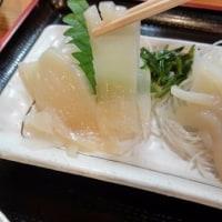 新物のスルメイカの刺身を食べてみた!・・・いか刺し定食
