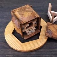 枠星Ⅱ からくり箱 川島英明さん作 Wakusei puzzle box