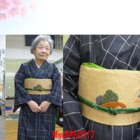 博多織りで和紙素材のパッチワーク柄