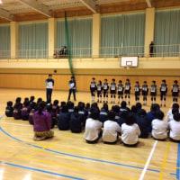 中学紋選壮行会