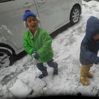 雪がうれしい