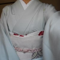 更紗の単衣で、祝賀会へ