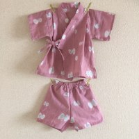 【mina perhonen】runrunrun&hana hane 手拭いで子ども甚平とパンツを作った。