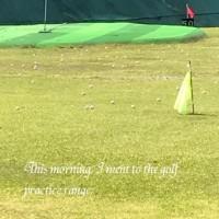 ゴルフの練習☆
