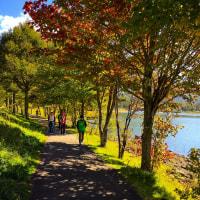 立科町女神湖ポールウオーキング散策
