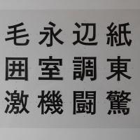 白澤太ゴシック体:習作の記録