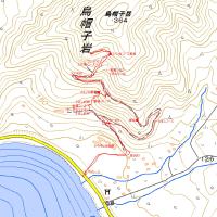 烏帽子岳のGPSトラック