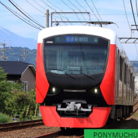 静岡鉄道はA3002と富士山 (狐ヶ崎-御門台 2017年5月)