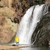 滝撮る光景 (龍門の滝)