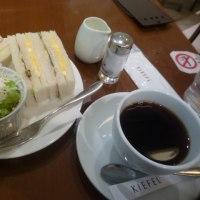 映画前にふんわりパンのサンドイッチモーニング☆KIEFELキーフェル☆大阪市中央区♪