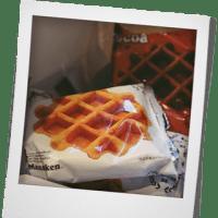 ベルギーワッフルの朝ご飯